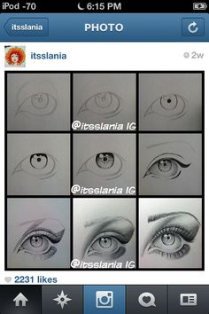 Eye drawing instructions