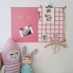 Sleepy Eyes Mood Board / Eyelashes Wall Grid / Wire Metal Grid Board / Magnet Memo / Girls Room Wall Decor