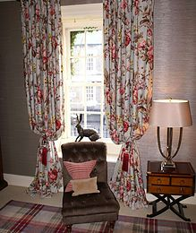 Curtain Manufacturing for trade and public. Curtain making in central London. London curtain making and interior design store, Chelsea Harbour