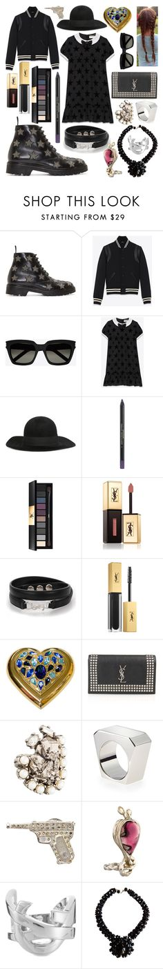 """""""YSL Classic Goth"""" by lenbb ❤ liked on Polyvore featuring Yves Saint Laurent, YSL and goth"""