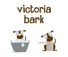 Cute Illustrations by Box of Birds, Victoria Bark pet supply store, seen at dog-milk.com