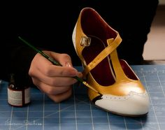 How To Paint Your Own 1920s Flapper Shoes | American Duchess