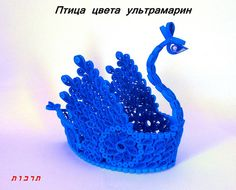 3D Quilling Птица by Tarbut2, via Flickr