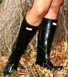 Wellies Rain Boots, Black Rubber, Hunter Boots, Rubber Rain Boots, Female, Shoes, Fashion, Moda, Zapatos