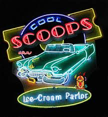 neon ice cream signs -