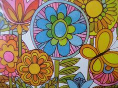 Vintage Hallmark Party Invitations - NOS Retro Mod Flower Power 8 invitations and envelopes Motif Vintage, Vintage Design, Vintage Images, Vintage Patterns, Flower Designs, Flower Patterns, Print Patterns, Painting Patterns, Retro Pattern