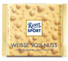 RITTER SPORT Weisse Voll-Nuss #Schokolade