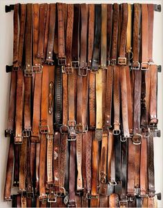 **VINTAGE LEATHER BELTS** The one accessory that defines the men from the boys (and their pants below their crack)