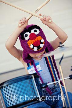 Handmade Crocheted Animal Muppet's Hat by twotwinklestars on Etsy, $20.00