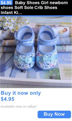 Baby Girls Shoes: Baby Shoes Girl Newborn Shoes Soft Sole Crib Shoes Infant Kid Toddler Prewalker BUY IT NOW ONLY: $4.95