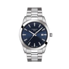 Tissot T-Classic Gentleman Bracelet Watch, Gentleman Watch, Rolex Oyster Perpetual, 316l Stainless Steel, Stainless Steel Bracelet, Tissot T Touch, Tissot Mens Watch, Citizen Eco, Le Locle, Accessories