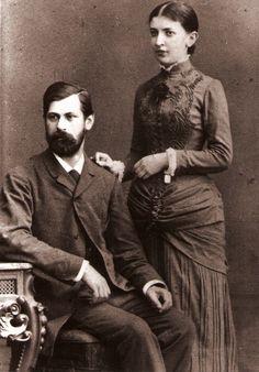 Juin 1885 - Sigmund Freud (1856-1939) et sa Fiancée Martha Bernays (photo prise un an avant leur mariage)