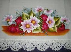 Resultado de imagem para como pintar pano de prato para iniciantes