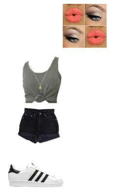 """""""Untitled #357"""" by victoria45r ❤ liked on Polyvore featuring Levi's, adidas Originals and Gucci"""