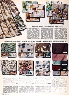 Sears 1960 Fall Catalog Drapes. You could buy fabrics through the catalogues too!