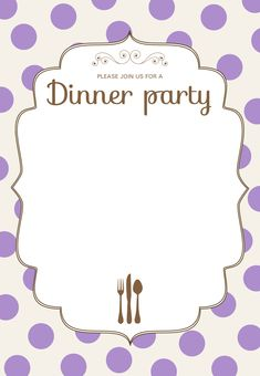 free printable dinner party invitations template from party printables