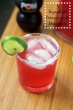 Three Ingredient Pomegranate Margarita Recipe - Just Us Four