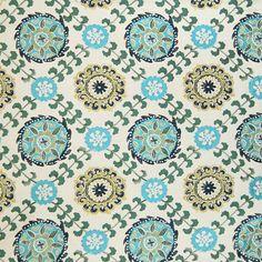 Home Decor Breezy Poolside Decorator Fabric - Contemporary - Upholstery Fabric #Aqua #Teal #Blue #Green #Decorator_Fabric #New #Summer_2014 #Ikat #Fabric #NewFabric #Home_Decor #Interior_Design