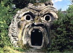 """The Park of the Monsters, or """"Parco dei Mostri,"""" in the Garden of Bomarzo."""