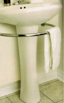 Hardware That Saves Space With Style: The Pedestal Sink Towel Bar