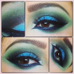 green and blue eyes