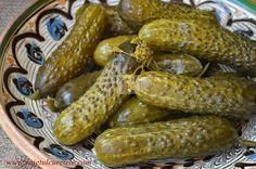 Castraveti murati la soare | CAIETUL CU RETETE Canning Pickles, Romanian Food, Romanian Recipes, Good Food, Yummy Food, Fermented Foods, Canning Recipes, Sausage, Food And Drink