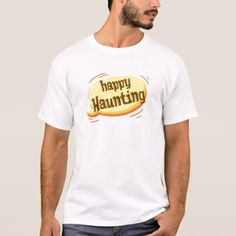 #Halloween Happy Haunting word T-Shirt - #halloween #boo #clothing #shirts #apparel #shirt #outfit