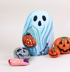 Halloween craft stones