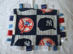 Yankees Baseball Baby Ribbon Security by ourcraftycreations, $12.00
