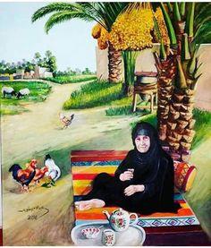 Palestine Art, Adventure Time Art, Egyptian Art, Art Pictures, Middle Eastern Art, Arabian Art, Portrait Art, Beautiful Paintings, Glass Art