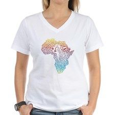 abstract Africa in a cheeta Shirt