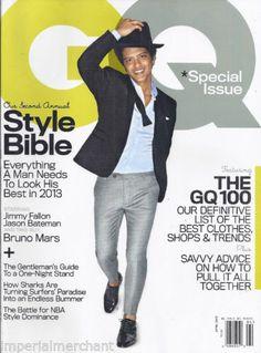 Bruno Mars in GQ magazine
