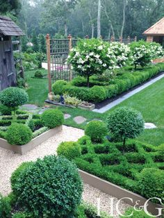 Garden Design Ideas : The 2014 HC&G Innovation in Design Awards Winners: Garden Design – Hamptons Cottages & Gardens – September 2014 – Hamptons Boxwood Garden, Topiary Garden, Garden Pots, Formal Garden Design, Small Garden Design, Formal Gardens, Outdoor Gardens, Modern Gardens, Small Gardens
