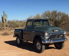 trucks and cars 57 Chevy Trucks, Gmc Pickup Trucks, Vintage Pickup Trucks, Classic Pickup Trucks, Antique Trucks, Gm Trucks, Cool Trucks, Vintage Cars, Small Trucks