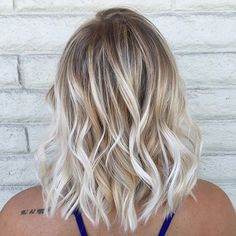 reverse balayage on short blonde bob