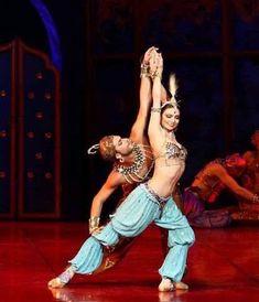 <<Yulia Makhalina and Nikolai Tsiskaridze in «Scheherazade»,  Bolshoi Ballet # Photographer Valeria Komissarova>>