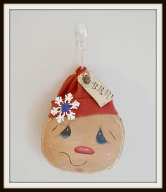 Christmas Gingerbread ornament primitive home by PrimitivePrairie