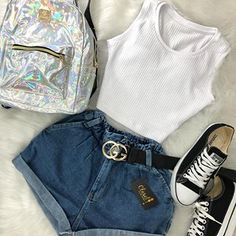 stylish clothes,newest fashion,hot new outfits,shop fashion Teenage Outfits, Teen Fashion Outfits, Outfits For Teens, Tween Fashion, Fashion Clothes, Fashion Tips, Fashion Trends, Cute Casual Outfits, Cute Summer Outfits