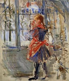 capturing-the-light: Child with a Red Apron, Berthe Morisot, oil on canvas, 1886