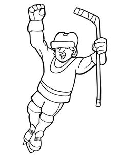 Coloring Page Of Hockey Goalie You Can Print Out This
