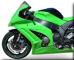 Race fairing for Kawasaki ZX-10R is a neater than slightly clumsy oem.