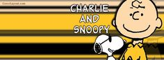 Charlie Brown and Snoopy Wearing Sunglasses Facebook Cover coverlayout.com