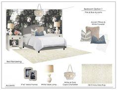 dark floral modern bedroom