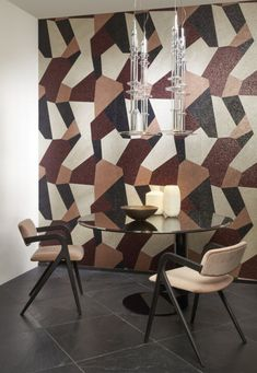 Arte Fraction WallcoveringBuy Arte Fraction Wallcovering Fabric & Wallpaper at Amersham Designs Fraction Wall, Arte Wallcovering, Terrazzo Flooring, Fabric Wallpaper, Fractions, Dining Chairs, Colours, Pure Products, Traditional