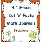 These quick and easy math journal prompts align with 4th Grade Common Core Math Numbers and Operations in Base 10 Standards:  4.NF.A.1  4.NF.A.2  4...