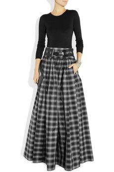 Michael KorsTaos plaid silk-blend taffeta maxi skirt