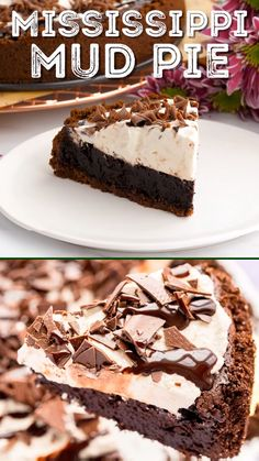 Irish Desserts, Easy Desserts, Chocolate Graham Cracker Crust, Homemade Graham Cracker Crust, Graham Cracker Cake, Mississippi Mud Pie, Flourless Chocolate Cakes, Chocolate Desserts, Cream Recipes