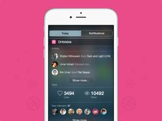 Dribbble widget for iOS8 by Mateusz Dembek