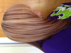 Reds and blondes foils hair