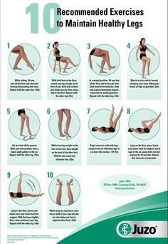 Juzo's 10 recommended leg exercises to maintain healthy legs.